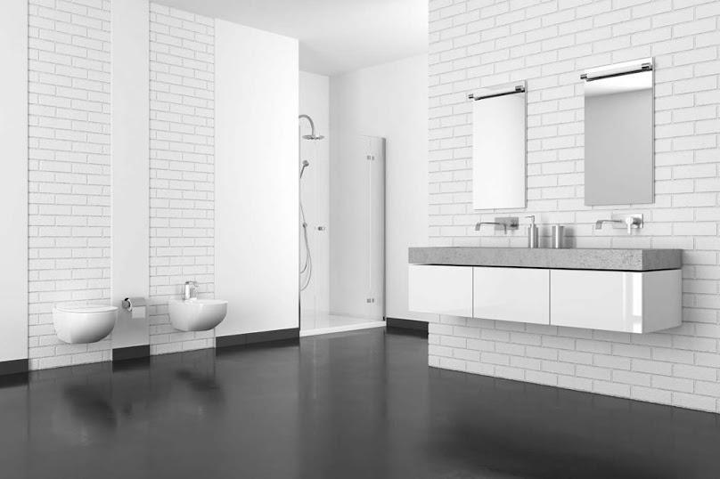 Nowoczesna żywica epoksydowa na podłodze w łazience