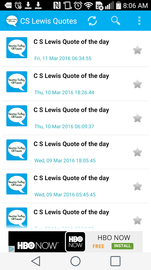 CS Lewis Quote of the day- screenshot