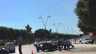 El accidente ha ocurrido este mediodía en la avenida del Mediterráneo.
