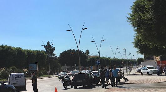 Nuevo accidente de tráfico en la avenida del Mediterráneo