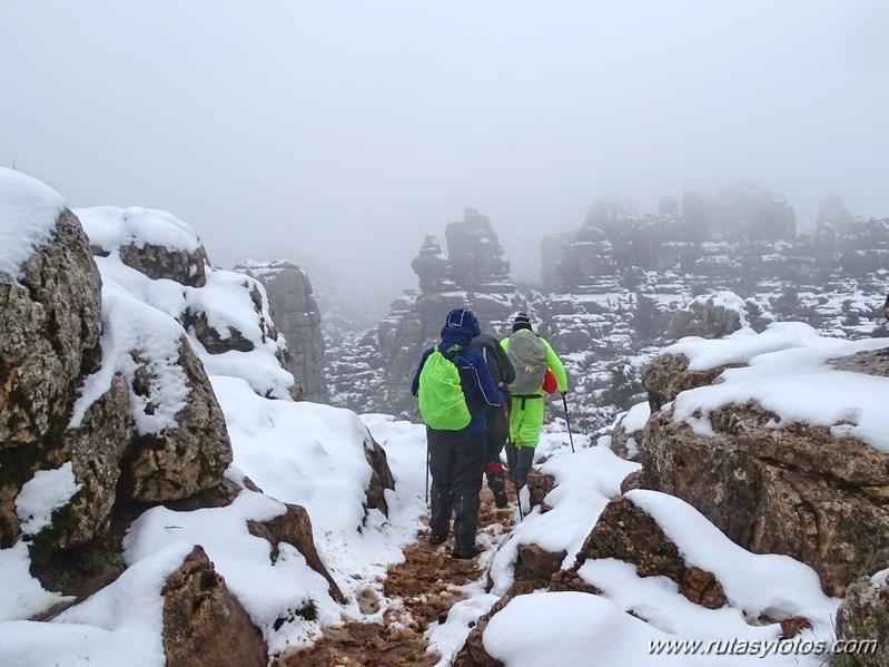 El Torcal nevado