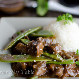 Slow Cooker Beef with Pea Pods