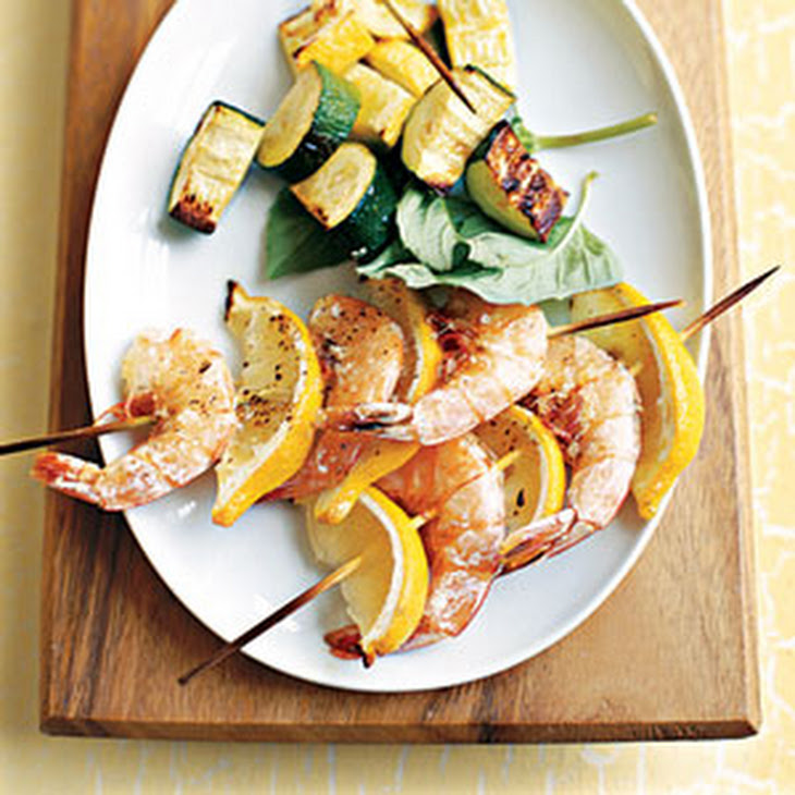 Grilled Shrimp and Lemon Kebabs Recipe