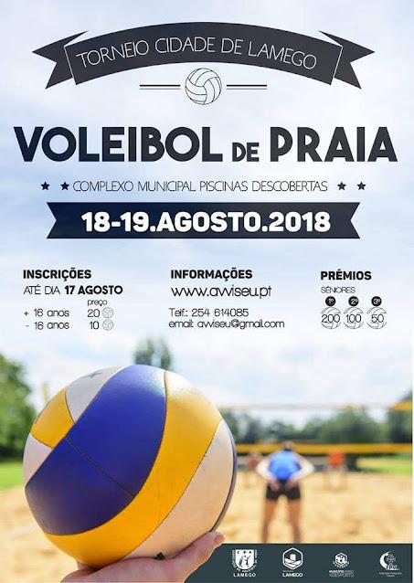 Piscinas de Lamego promovem Torneio de Voleibol de Praia