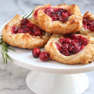 Cranberry Brie Pastry Puffs.