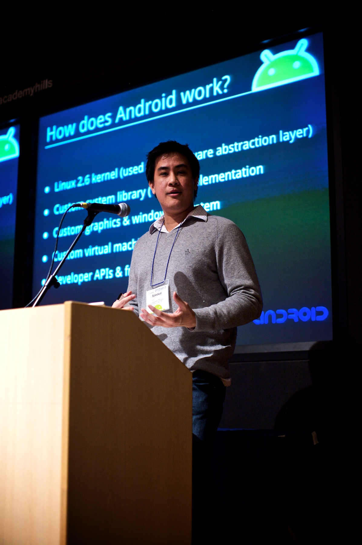 Photo: Giving my stump speech about Android to developers in Tokyo.
