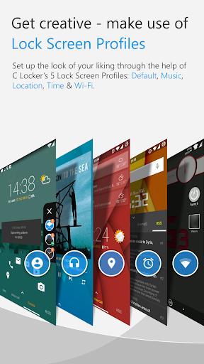 C Locker Free (Widget Locker) screenshot 2