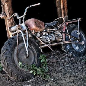 Old Chain Drive by Al Judge - Transportation Motorcycles ( chain drive, jerome, arizona, old motorcycle, nostalgia )
