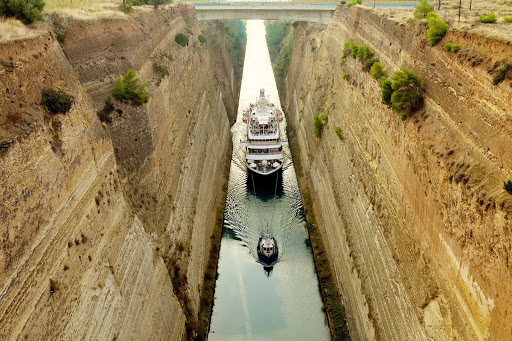 Go places the large ships can't. Cruise the Corinth Canal in Greece on a SeaDream Yacht Club cruise.