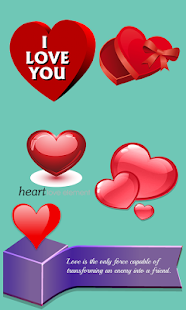 Love Heart Stickers- screenshot thumbnail