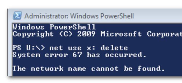 "[Solved] How to Fix ""System Error 67 Has Occurred"" when Mapping Network Drive using CMD or PowerShell"