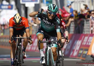 Cesare Benedetti (BORA-hansgrohe) erg blij met ritzege in de Giro