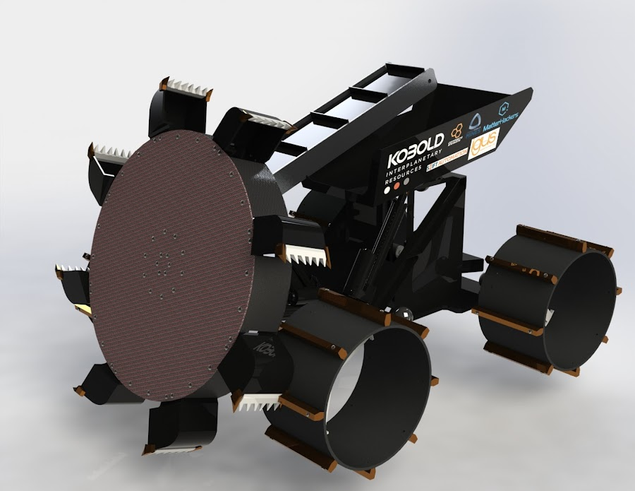 The KIR 1 prototype Lunar Digging Robot from Colby's team.