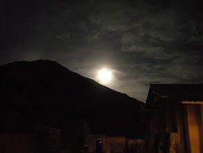 Photo: ウルバンバの宿 満月がまぶしい