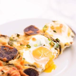 Sorrel & Duck-Fat Fried Purple Potato Breakfast Pizza