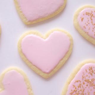 Heart-Shaped Sugar Cookies.