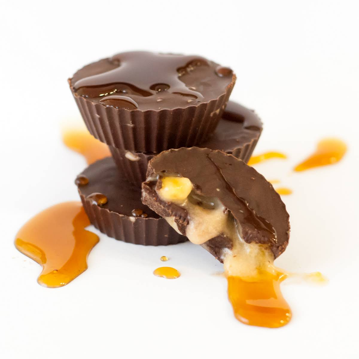 Salted Caramel Banana Protein Cups