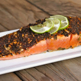 Five-Minute Mexican Blackened Salmon.