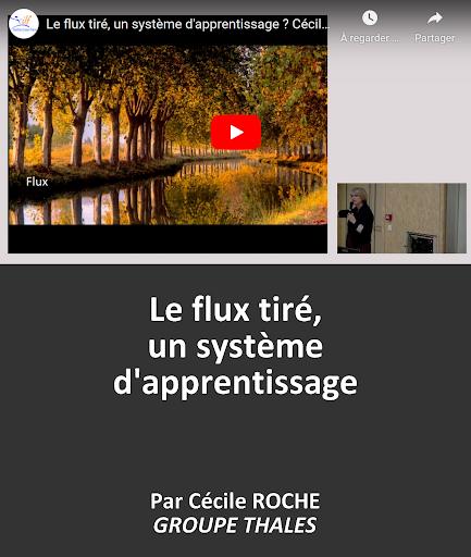 VIDEO en replay Le flux tiré, un système d'apprentissage ? par Cécile ROCHE - Directrice Lean et Agile - GROUPE THALES