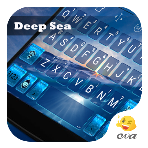 Deep Sea Sunset Emoji Keyboard 遊戲 App LOGO-硬是要APP