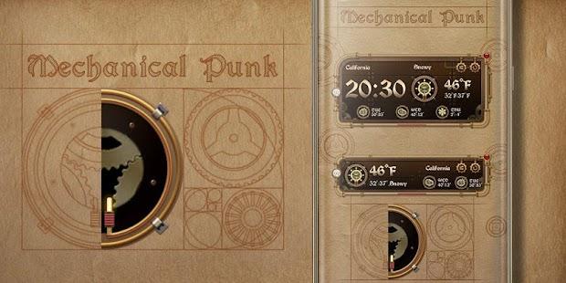Mechanical Punk GO Weather Widget Theme - náhled