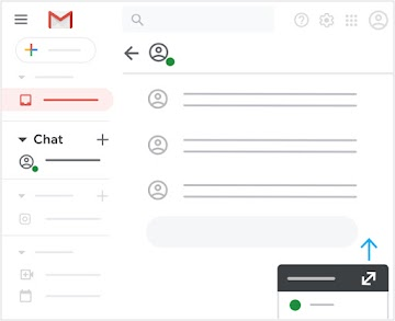 Expand Chat section and message contacts