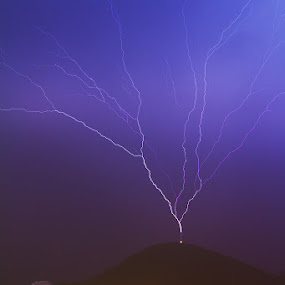 Petka lightning by Daniel Pavlinović - Landscapes Weather ( lightning, thunderstorm, dubrovnik, petka, croatia )