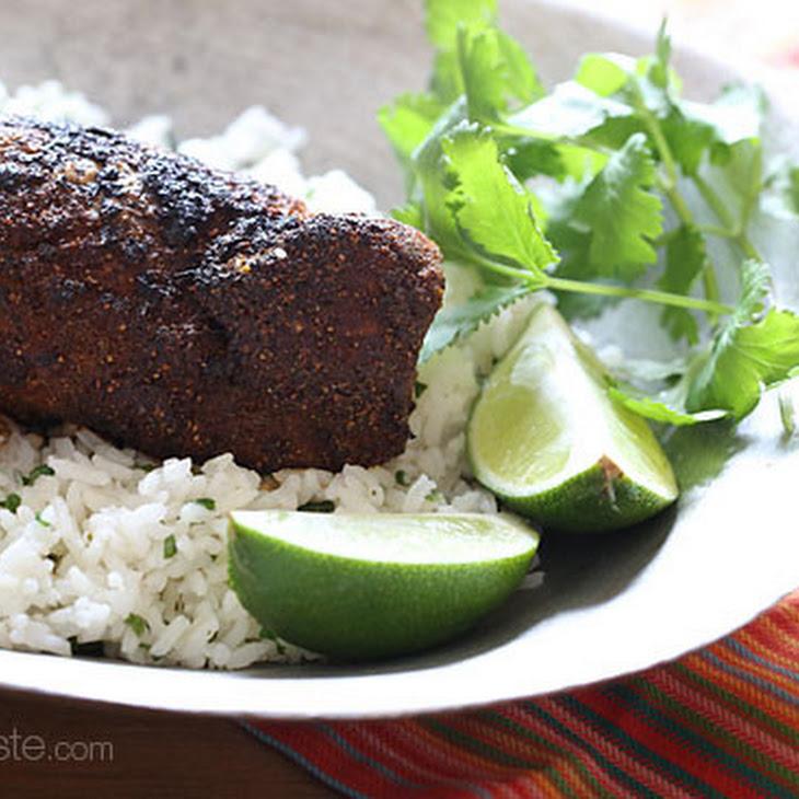 Mexican Adobo Rubbed Grilled Pork Tenderloin
