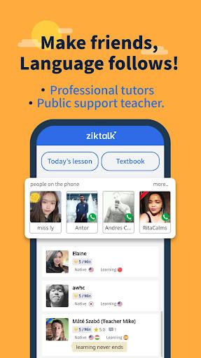 Ziktalk- Learn from native speakers ss1