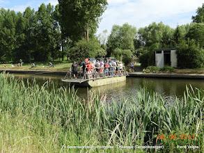 Photo: met de veer over de Dender