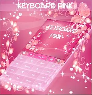 Růžová klávesnice Rose téma - náhled