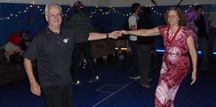 Photo: Robert McPherron and I swing dancing.