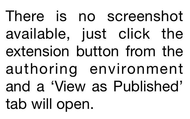 AEM View as Published Shortcut