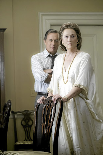 Meryl Streep  as Katharine Graham and Tom Hanks as Ben Bradlee in 'The Post'.