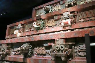 Photo: Teotihuacanin alueen reliefejä (nämä siis museossa, ei Teotihuacanissa)