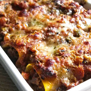 Baked Beef Cannelloni.