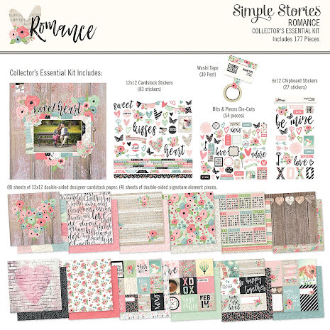 Simple Stories Collector´s Essential Kit 12X12 - Romance UTGÅENDE