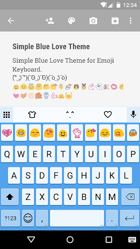 Simple Blue Love Keyboard Skin
