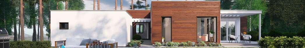 Flott funkishus i naturlige omgivelser, arkitekttegnet hus, arkitekt haugesund, anbefalt arkitekt