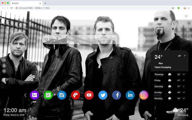 TDG Band Popular Stars HD New Tabs Themes