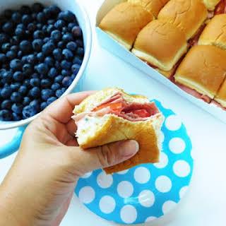 Cream Cheese Slider Sandwiches.