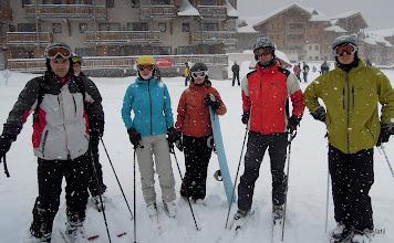 Photo: první u vleku a čekání na frantíky, až v poklidu odklidí půl metru sněhu z nástupu
