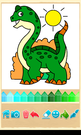 恐龙的颜色游戏