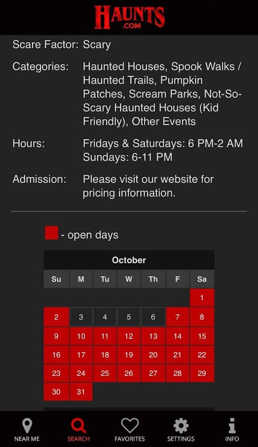 Haunts.com- screenshot