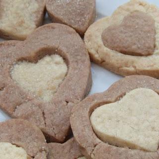 Chocolate Shortbread Hearts