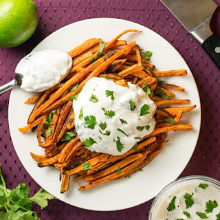 Oven Baked Sweet Potato Fries with Magic Dust.