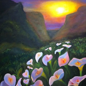 Mountain dream by Natascha Trainor - Painting All Painting