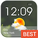 Transparent Glass Clock Widget icon