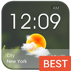 Transparent Glass Clock Widget update version