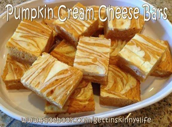 Skinny Pumpkin Cream Cheese Bars Recipe